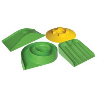 Hindernisse für Minigolfspiel 4 Stück in gelb und grün von MyMinigolf.