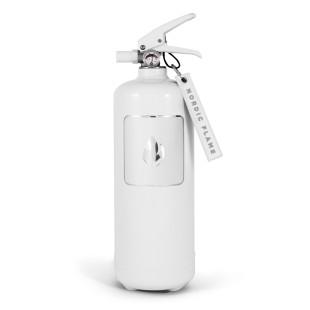 nordic flame Design Feuerlöscher classic weiß. Design Feuerlöscher 2 kg mit Wandhalterung. Moderne Brandbekämpfung für ihr Zuhause.