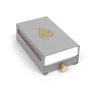 Nordic Flames Streichholzbox MATCHBOX grau. Aufbewahrung von neuen und abgebrannten Zündhölzern.