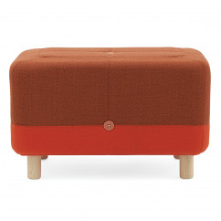 Hocker Sumo Pouf hybrid, orange-rot