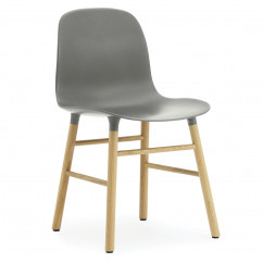 Stuhl Form Chair, Eiche/grau