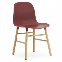 Stuhl Form Chair, Eiche/rot