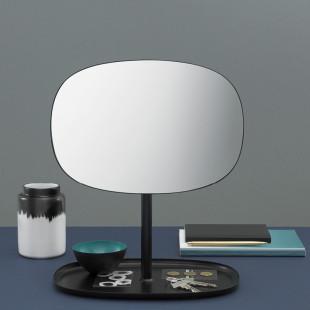 Tischspiegel mit Ablage Flip Mirror schwarz