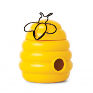 BUSY BEE von OTOTO Design: Bienenstock Büroklammernspender. Praktischer Helfer und tolles Geschenk für den Schreibtisch.