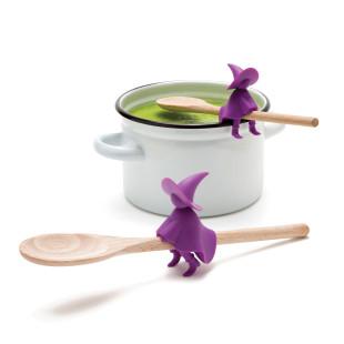 Löffelhalter Hexe AGHATA von OTOTO Design. Praktische Helfer für die Küche! Löffelhalter und Topfdeckelwächter Hexe.