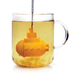 Witziges und originelles Teesieb Tea Sub von OTOTO Design. Teesieb U-Boot aus gelben Silikon.