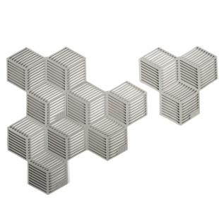 Glasuntersetzer / Topfuntersetzer Sico 4 Stück, grau