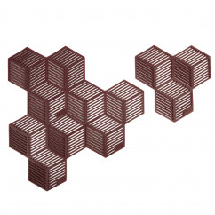 Glasuntersetzer / Topfuntersetzer Sico 4 Stück, rot