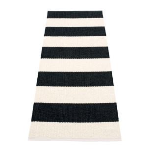 Teppichläufer Kunststoff BOB 200 x 70 cm schwarz-weiß