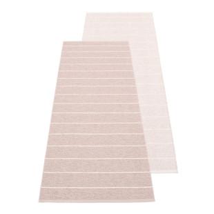 Teppichläufer CARL von Pappelina. Design Wendeteppich gestreift - zweiseitig - rosa/ballet. Teppich Kunststoff Outdoor - Made in Schweden