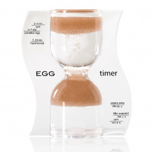 Eieruhr Sanduhr / EGG Timer, braun