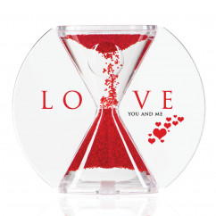 Sanduhr soul LOVE - you and me - rot