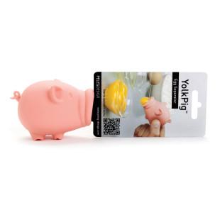 Eier trennen, mit dem Yolk Pig von Peleg Design: Eigelbtrenner Schweinchen rosa.