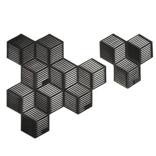 Glasuntersetzer / Topfuntersetzer Sico 4 Stück, schwarz