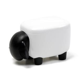Dekorativer Schaf-Aufbewahrungsbehälter Sheepshape Container JUNIOR für Wattestäbchen, Büroklammern und andere Kleinigkeiten von Qualy Design.