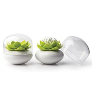 Wattestäbchen Lotusblüten Behälter - Lotus Cotton Bud - von Qualy.