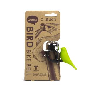 Safety First! Die kleine Vogel-Fahrradklingel von QUALY DESIGN wird ihre Fahrt sicherer und angenehmer machen.