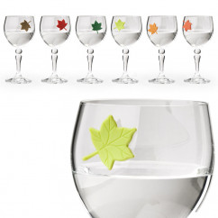 Glasmarker Leaf my Glass, 6er-Set