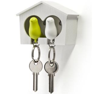 Schlüsselanhänger Duo Sparrow weiß/grün