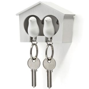 Schlüsselanhänger Duo Sparrow weiß/weiß