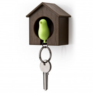 Schlüsselanhänger Sparrow braun/grün