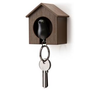 Schlüsselanhänger Sparrow braun/schwarz
