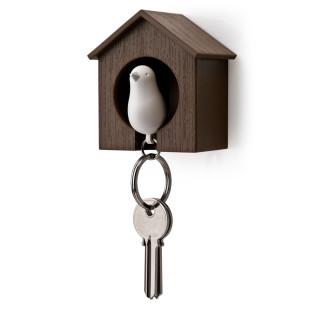 Schlüsselanhänger Sparrow braun/weiß