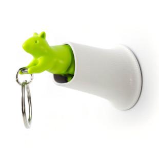 Schlüsselanhänger Squirrel Keyring, grün-weiß