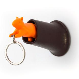 Schlüsselanhänger Squirrel Keyring, orange-braun