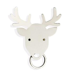 DEER von Qualy Design: magnetischer Schlüsselhalter / Schmuckhalter Reh in weiß.