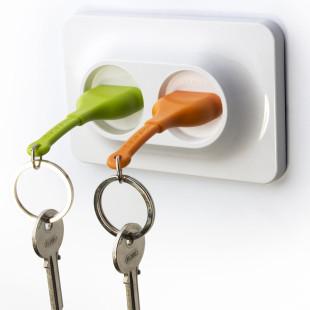 Schlüsselhalter Steckdose Double Unplug grün-orange