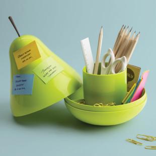 Stiftehalter, Snackschale,... - Pear Pod Container, Birne grün