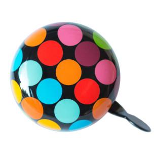 Große, bunte Fahrradklingel Dots von Remember Design. Retro Fahrradklingel XL - Klingel FLOW mit bunten Punkten.