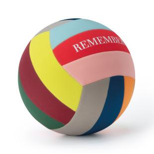 Weicher Freizeitball für Wasser, Garten und Strand. Strandball, Spielball ... . Bunter Ball mit Neoprenbezug von Remember Design.