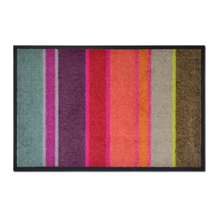 Fußmatte LARGO bunt gestreift, 75 x 50 cm - waschbar