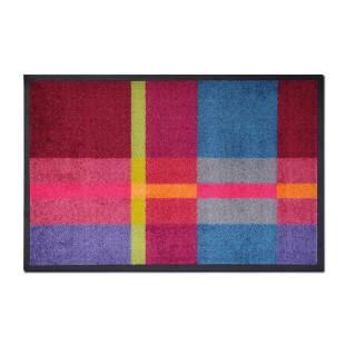 Bunte Fußmatte PRESTO mit Karomuster von Remember Design. Farbenfrohe, rutschfeste Schmutzfangmatte.