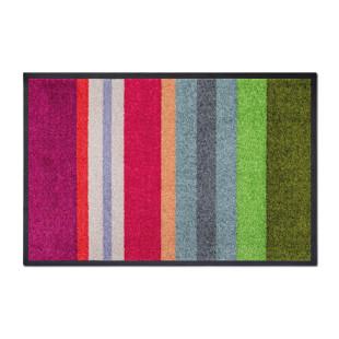 Bunt gestreifte Fußmatte VIVO von Remember Design. Farbenfrohe, rutschfeste Schmutzfangmatte - waschbar.