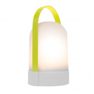 Mobile Lampen URI CELINE von Remember Design. Akku Leuchte limegrün-hellgrau. Indoorlampe, Outdoorlampe, Campinglampe, Gartenlampe ...