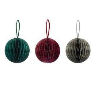 Baumschmuck Kugel aus Papier. Weihnachtsschmuck von Remember Design. Papier Weihnachtsdekoration - Baumkugeln.