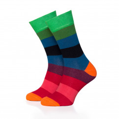 Bunt gestreifter Damen Socken #01 von Remember Design. Ringelsocken bunt gestreift. Frauen Design Fashionsocken bunt Gr. 36-41