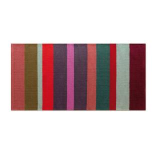 Gestreifter Teppichläufer MALVE bunt. Teppichläufer 140 x 70 cm REMEMBER Design. REMEMBER Design Teppichläufer Baumwolle.