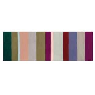 Gestreifter Teppichläufer CARA 250 x 80 cm von REMEMBER Design. REMEMBER Design Teppichläufer lang aus Baumwolle.