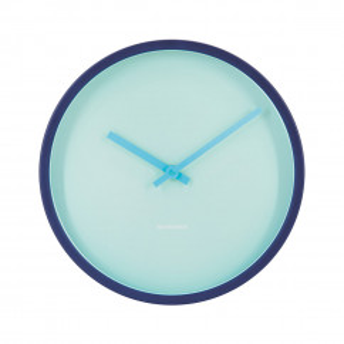 Wanduhr AQUA von Remember Design. Minimalistische Wanduhr in blau / türkis. Designer Wanduhr Metall.