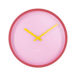 Wanduhr ROSE von Remember Design. Minimalistische Wanduhr in rose/pink. Designer Wanduhr Metall.