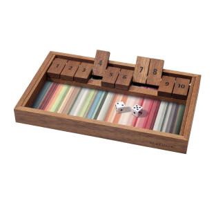 Würfelspiel SHUT THE BOX von Remember Design. Farbenfrohes Holzspiel / Denkspiel / Logikspiel aus Holz.