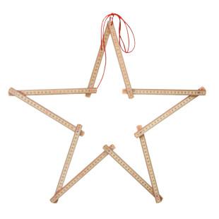 2meter Stern von Raumgestalt. Ausgefallene Weihnachtsdeko. Weihnachtsstern Zollstock.