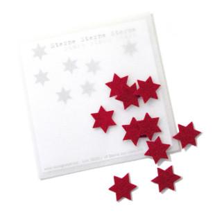 Raumgestalt Ein Stern für ... - Filzsterne: zehn kleine rote Filzsterne im Transparentumschlag.
