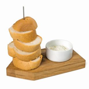 Servierbrett mit Dipschale - Brot Ahoi