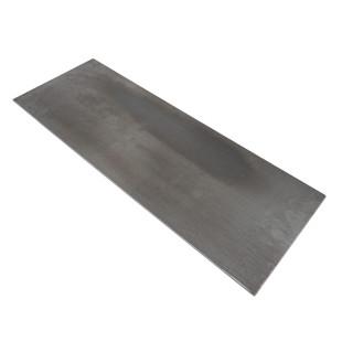 Grillplatte Plancha für Feuerschale. Massive Teppanyaki Grillplatte 70 x 25 cm von Raumgestalt aus verzundenem Stahl.
