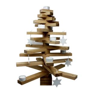 Weihnachtsbaum bauMsatz von Raumgestalt. Design Holzbaum XMAS. Wiederverwendbare Baum Dekoration zur Weihnachtszeit.